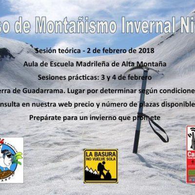 Curso Montañismo Invernal Nivel 1
