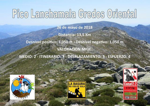 Pico Lanchamala Gredos Oriental