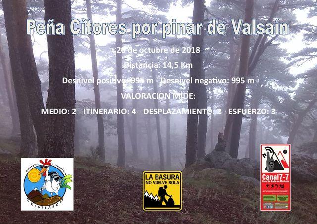 Peña Cítores por Valsaín