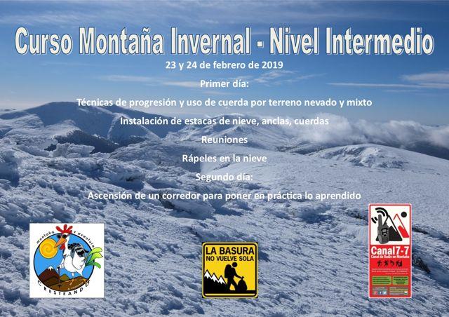 Montaña invernal intermedio