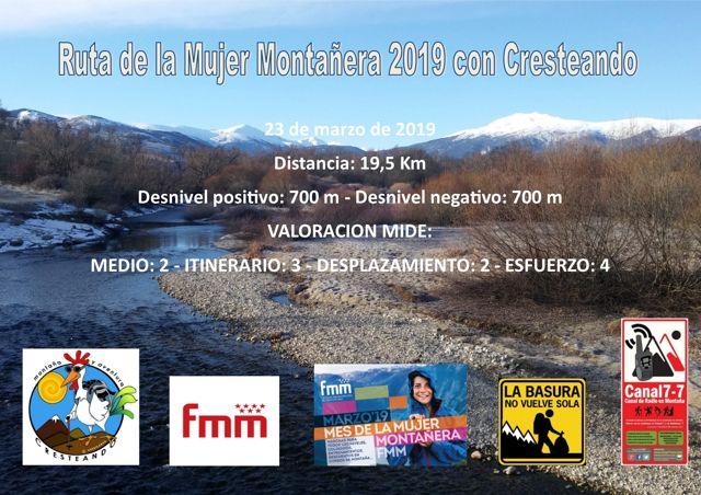 Ruta Mujer Montañera 2019 Cresteando