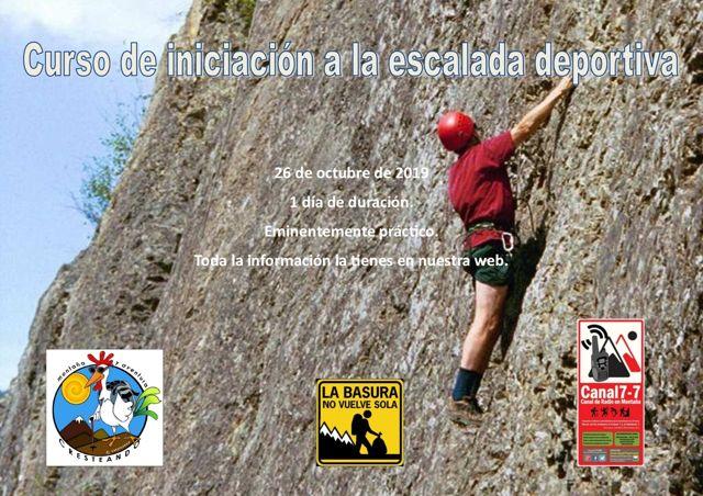 Curso iniciación escalada deportiva